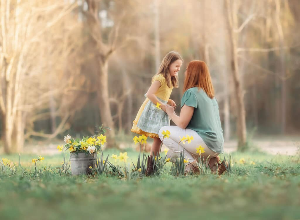 fine art photo of mother and daughter
