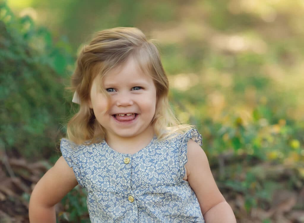 adorable two year old girl