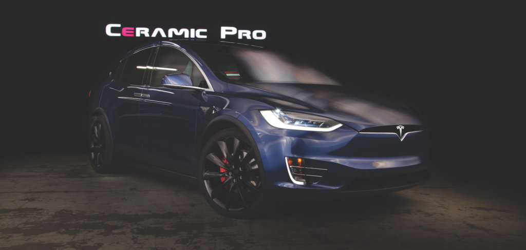 ceramic coating winnipeg coated tesla SUV