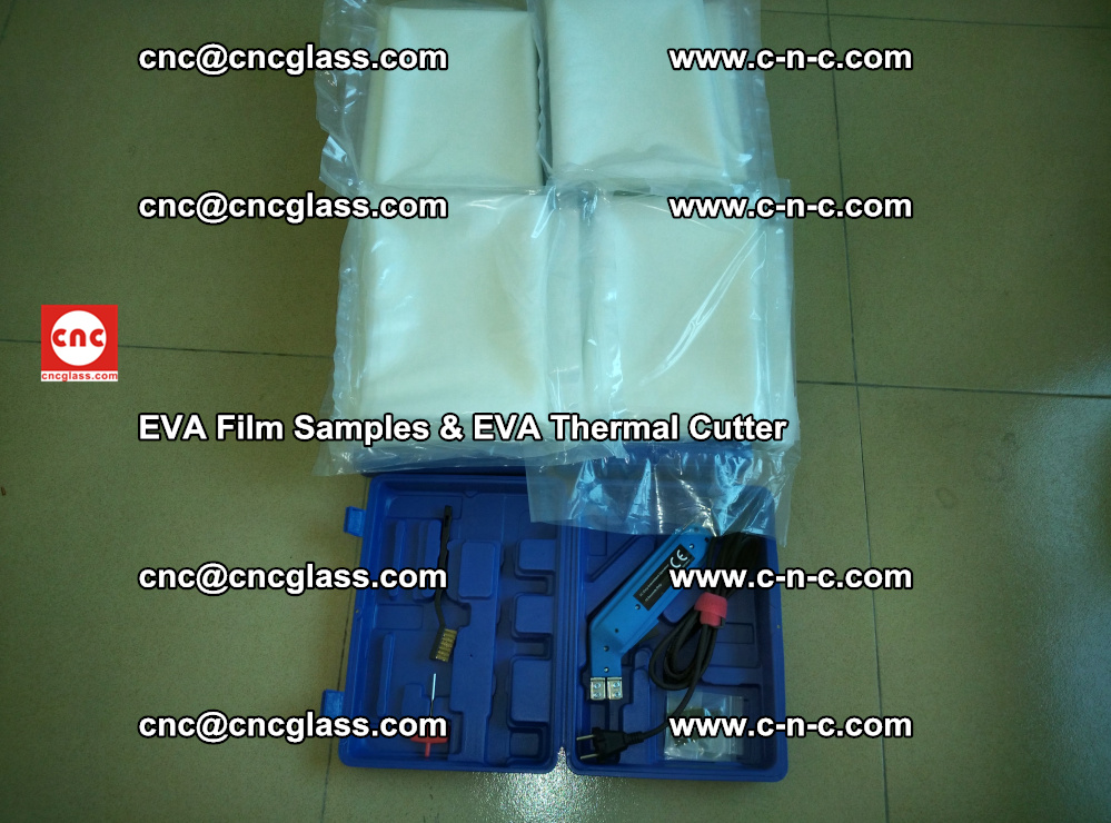 EVAFORCE SUPER CLEAR EVA Film Samples and EVA Thermal Cutter (1)