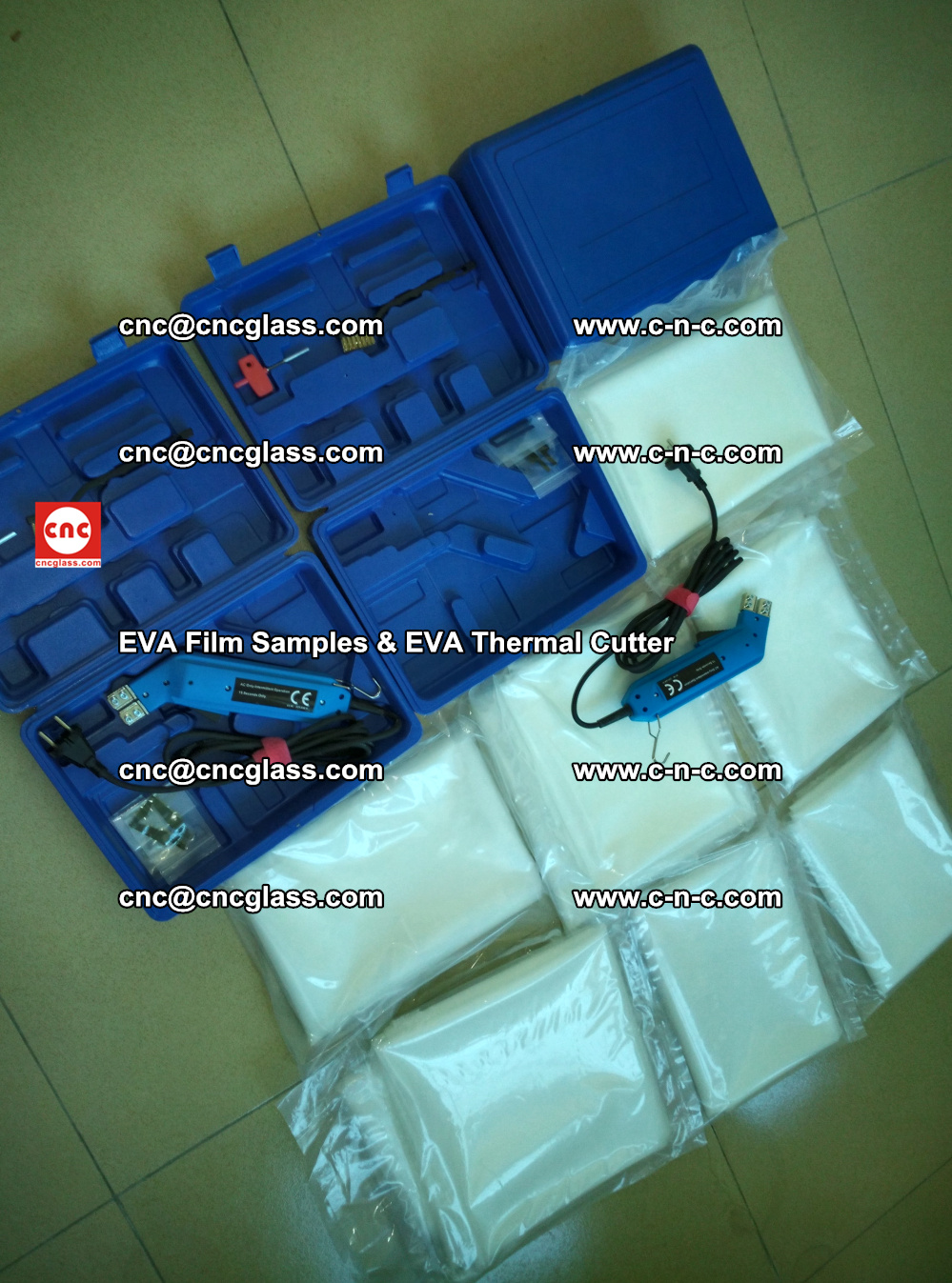EVAFORCE SUPER CLEAR EVA Film Samples and EVA Thermal Cutter (14)