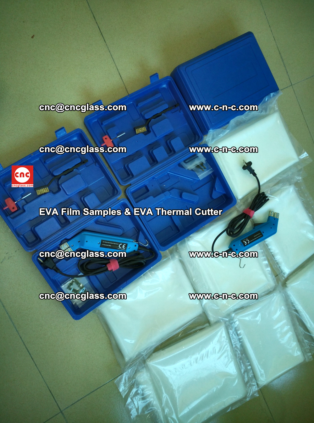 EVAFORCE SUPER CLEAR EVA Film Samples and EVA Thermal Cutter (17)