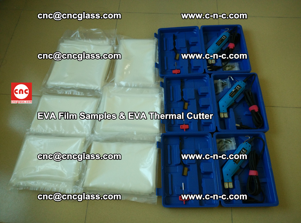 EVAFORCE SUPER CLEAR EVA Film Samples and EVA Thermal Cutter (3)