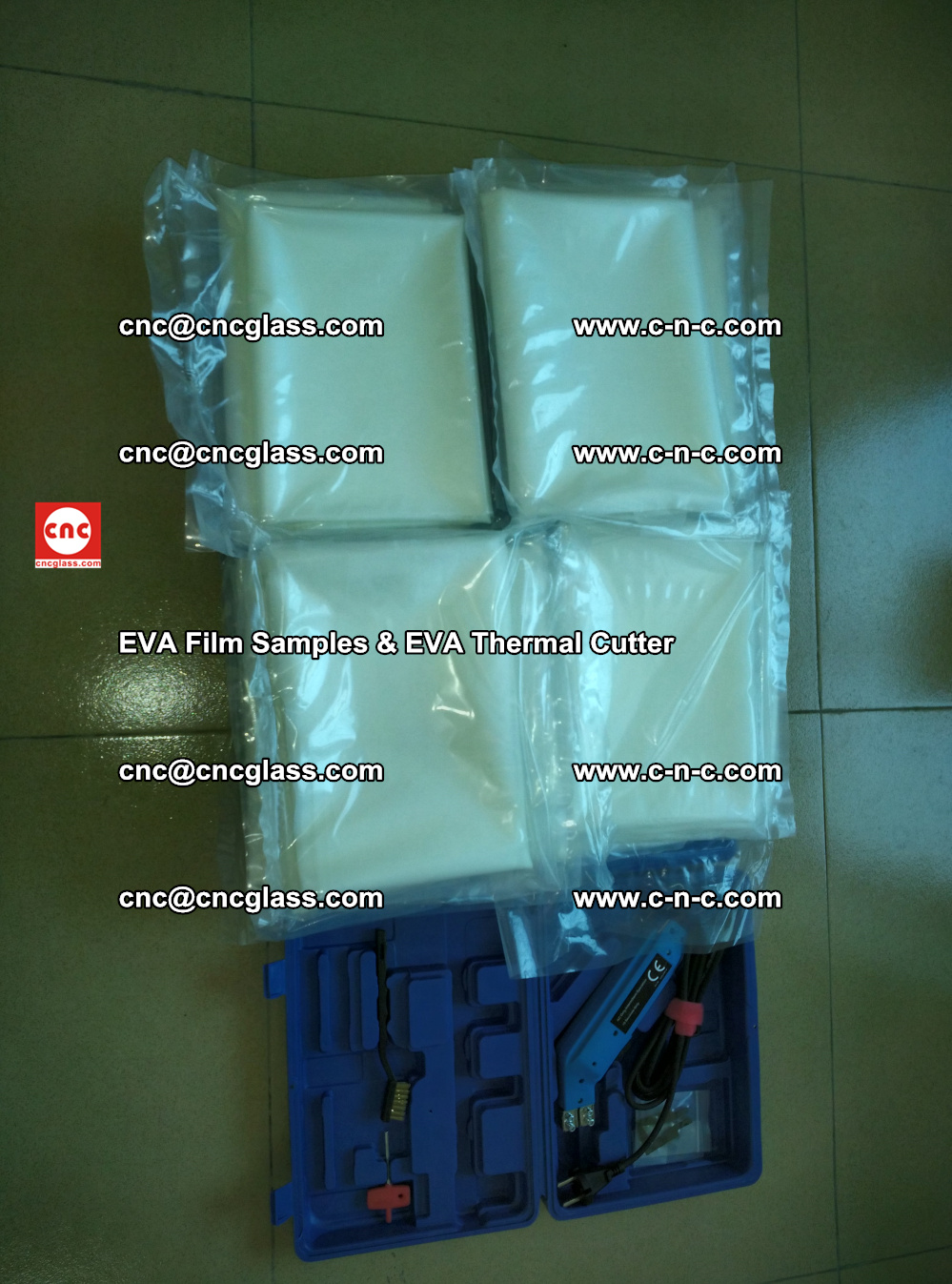 EVAFORCE SUPER CLEAR EVA Film Samples and EVA Thermal Cutter (38)
