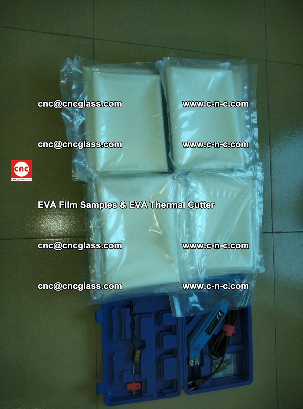 EVAFORCE SUPER CLEAR EVA Film Samples and EVA Thermal Cutter (39)