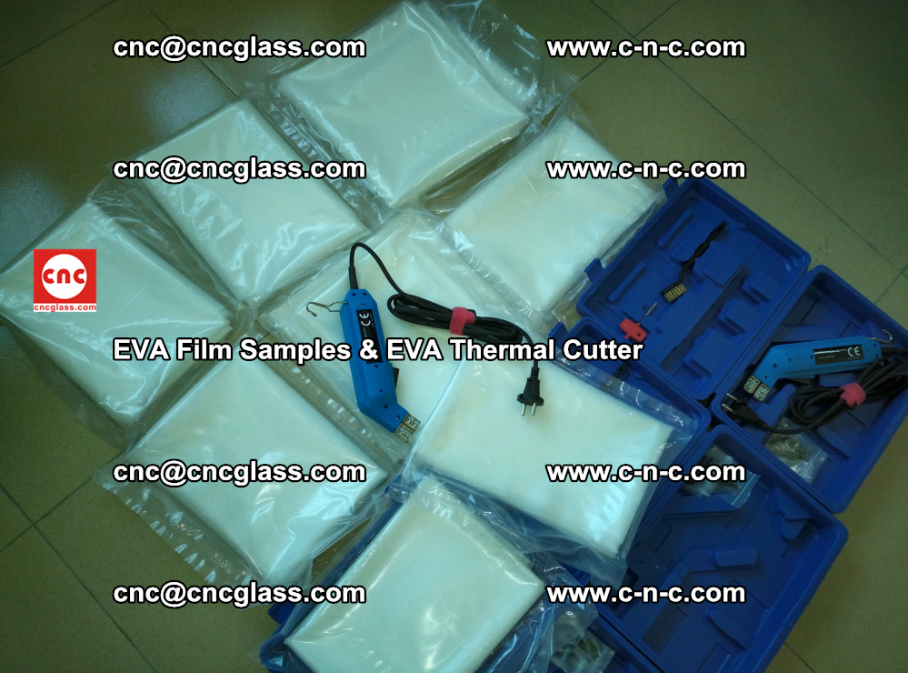 EVAFORCE SUPER CLEAR EVA Film Samples and EVA Thermal Cutter (7)