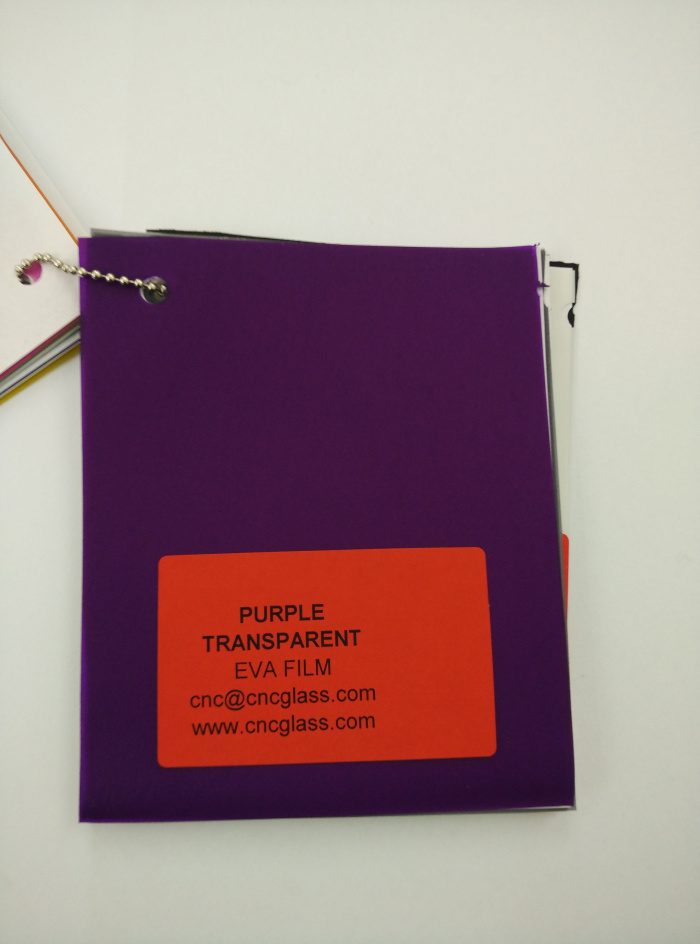 Purple Transparent Ethylene Vinyl Acetate Copolymer EVA interlayer film for laminated glass safety glazing (15)
