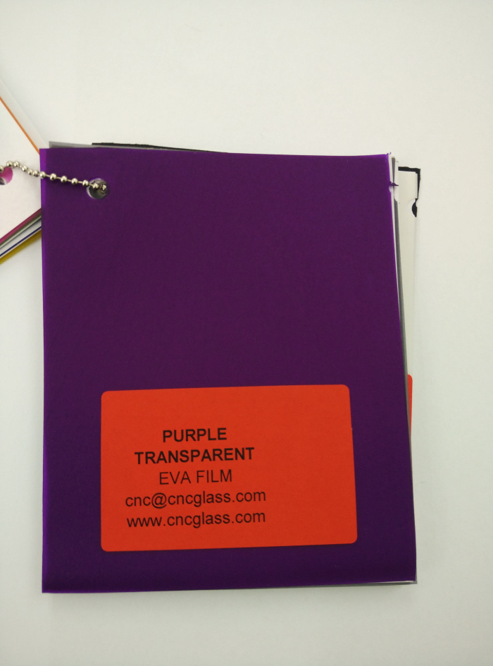 Purple Transparent Ethylene Vinyl Acetate Copolymer EVA interlayer film for laminated glass safety glazing (16)