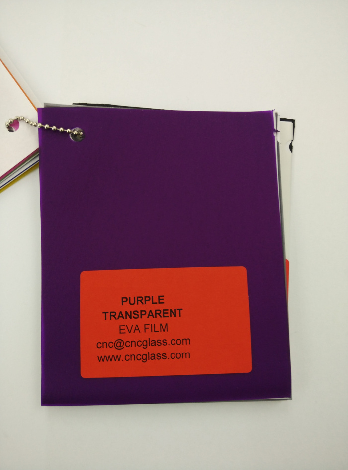 Purple Transparent Ethylene Vinyl Acetate Copolymer EVA interlayer film for laminated glass safety glazing (24)