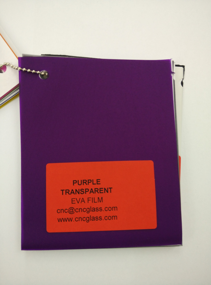 Purple Transparent Ethylene Vinyl Acetate Copolymer EVA interlayer film for laminated glass safety glazing (25)