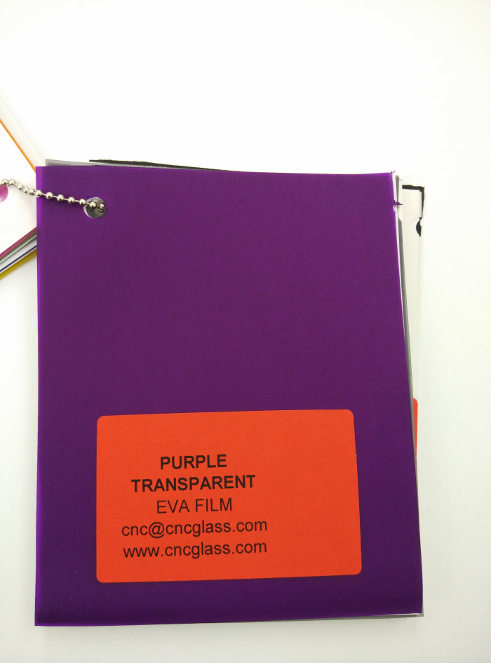 Purple Transparent Ethylene Vinyl Acetate Copolymer EVA interlayer film for laminated glass safety glazing (3)