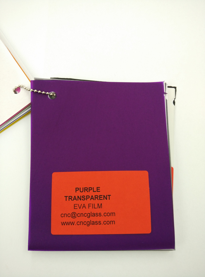Purple Transparent Ethylene Vinyl Acetate Copolymer EVA interlayer film for laminated glass safety glazing (8)