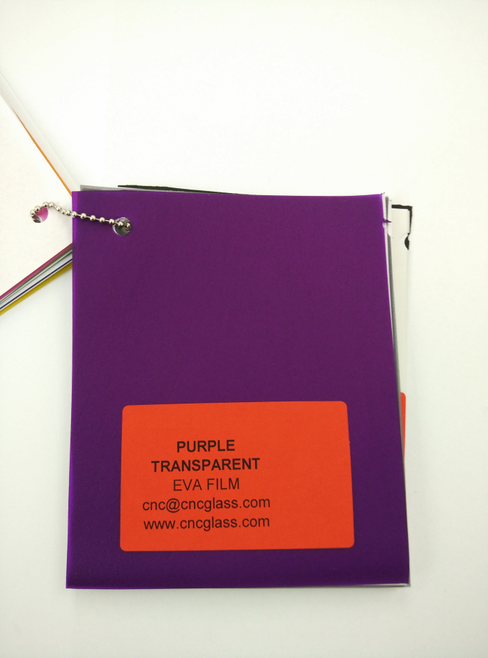 Purple Transparent Ethylene Vinyl Acetate Copolymer EVA interlayer film for laminated glass safety glazing (9)