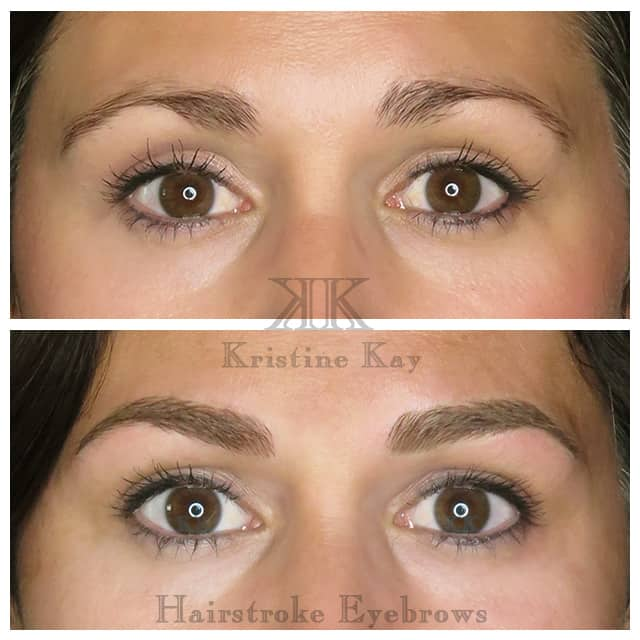 permanent makeup microblading eyebrows kansas city