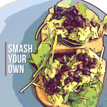 Cartoon Image of Avocado Toast