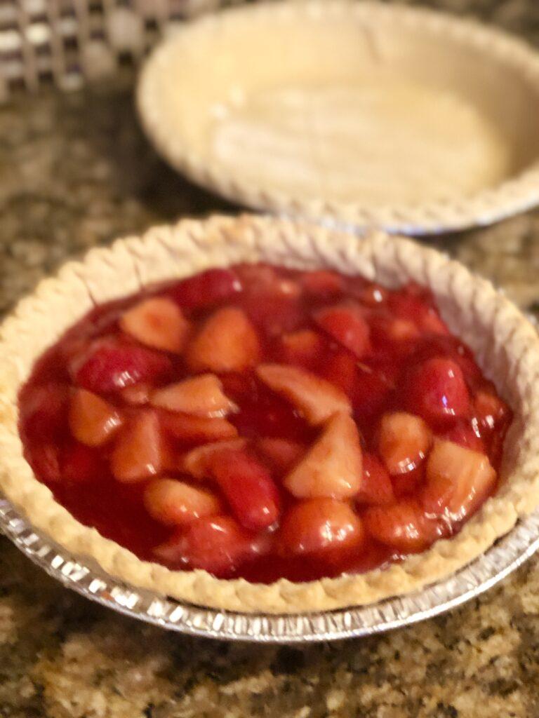 Strawberry Filling in Pie Crust