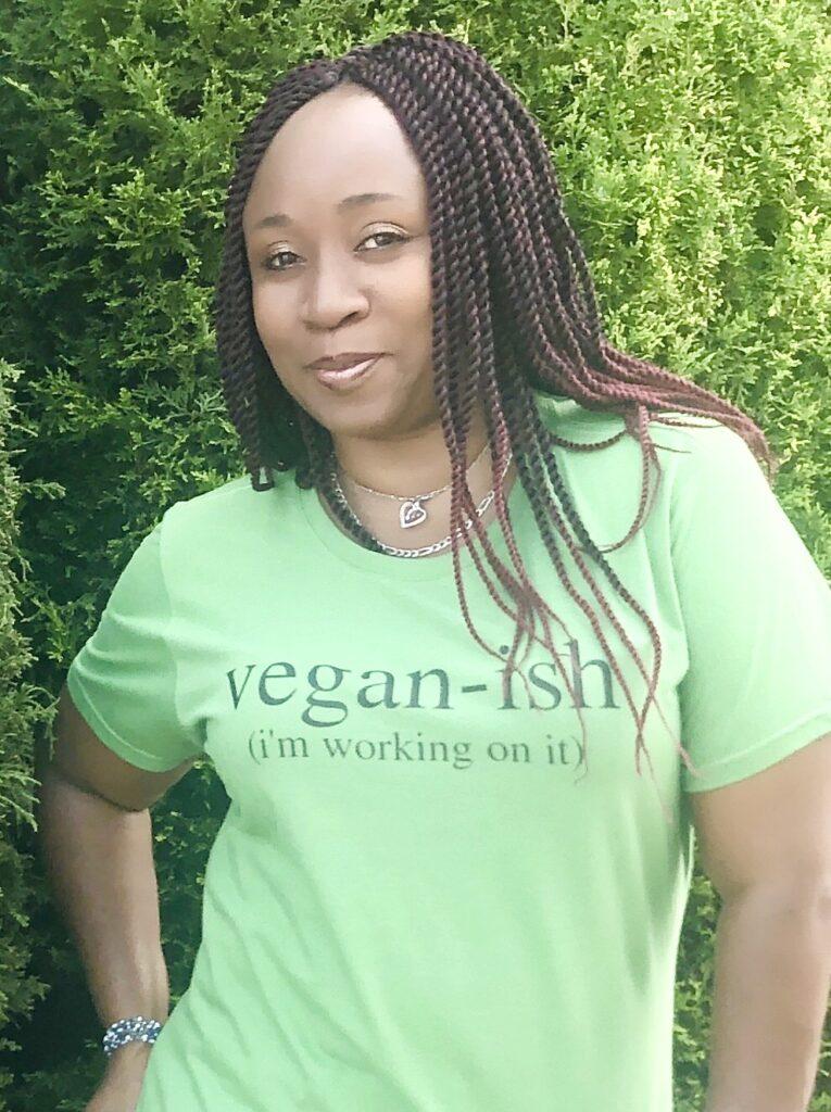 LA Dunn in Vegan Ish Shirt