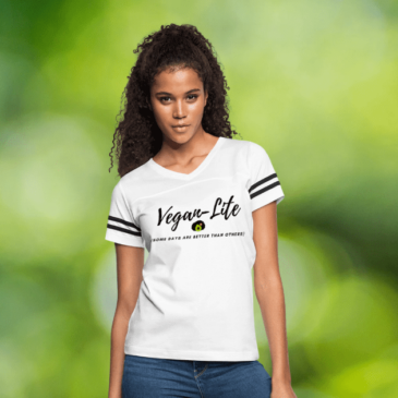 Woman in Vegan Lite Shirt