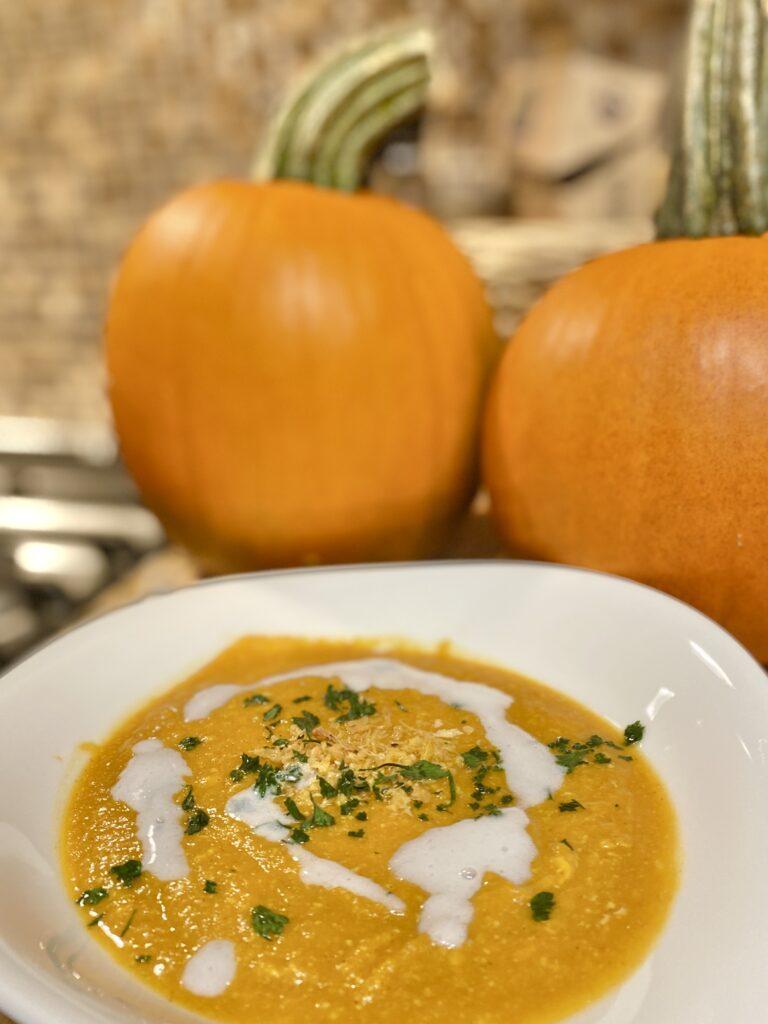 Bowl of Pumpkin Coconut Soup