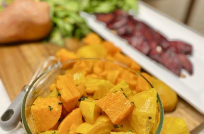 Golden Beet and Sweet Potato Salad