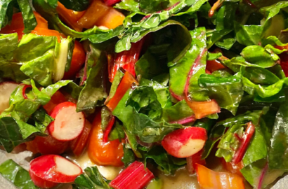 Kale and Rainbow Chard Salad