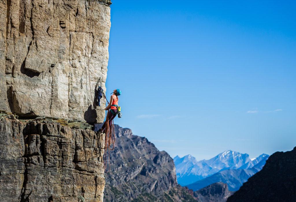 Banff, Alberta. Ashley Gales on Cardiac Arete, 10d.
