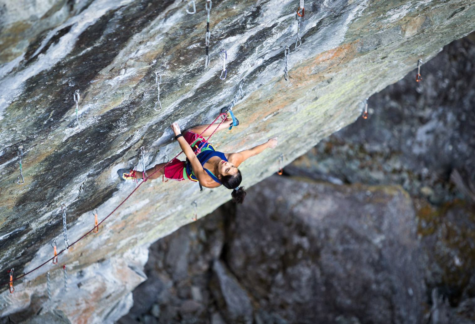 Alannah Yip - The Pulse, 14a - Cheakamus Canyon, BC.