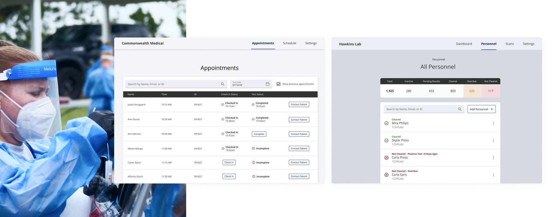 project beacon app designs