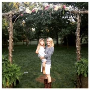 me and El at Brooke's wedding