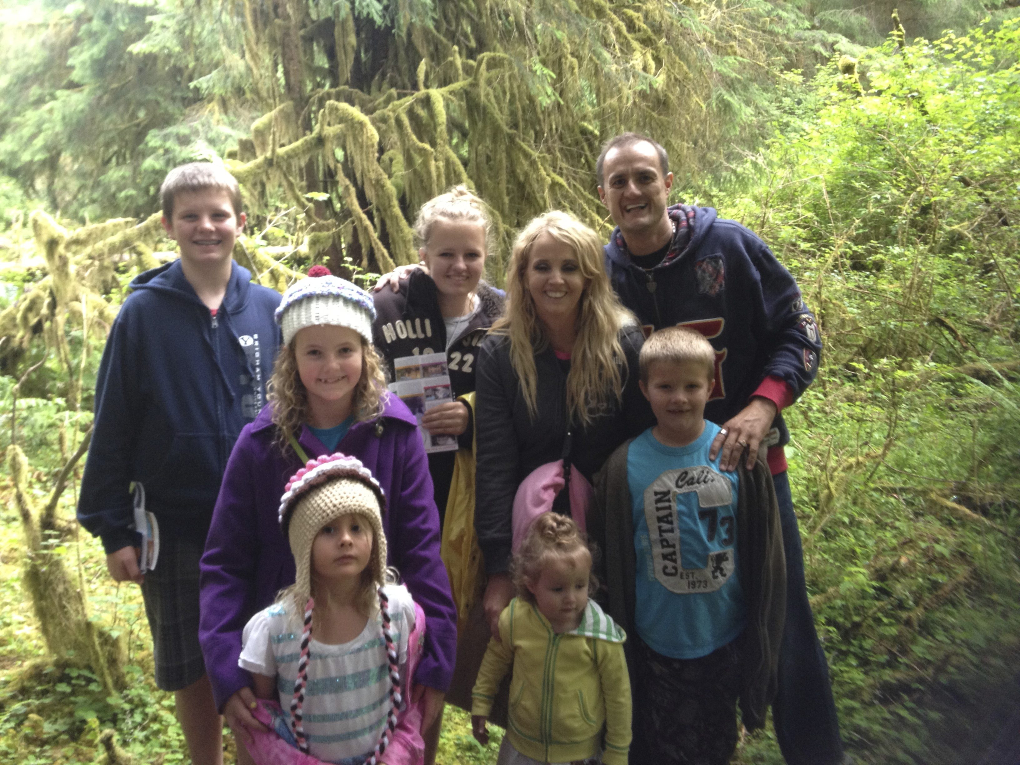 Gary Fales Family at Ho Rainforest