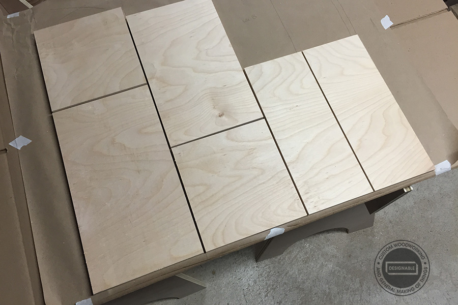 cut the plywood pieces to size