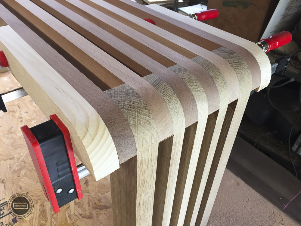 designable slat table leg joint detail after shaping
