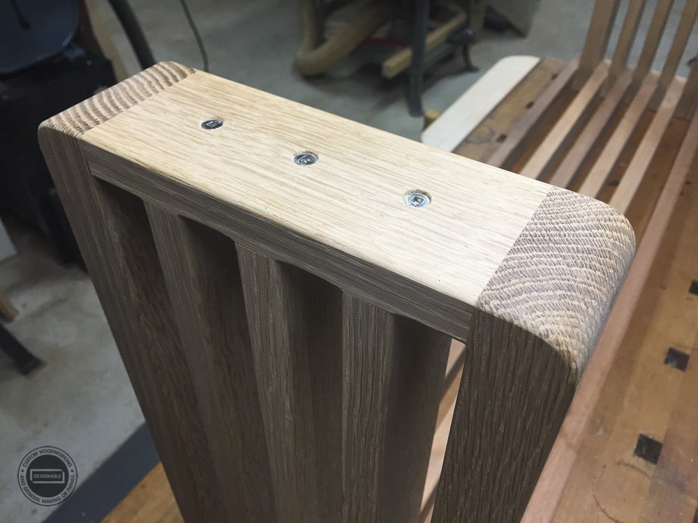 designable slat table leg assembly
