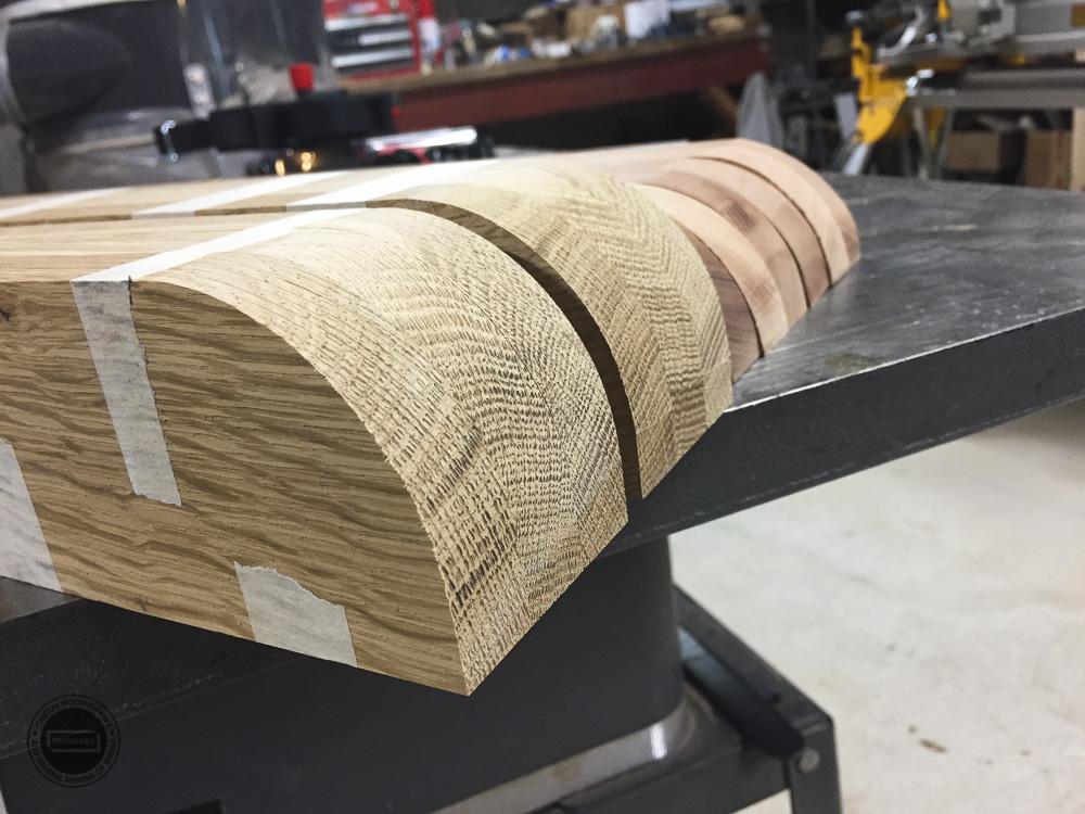 designable slat table curves shaped