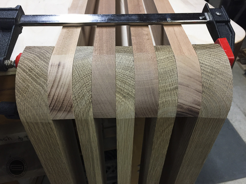 designable slat table dry fit assembled