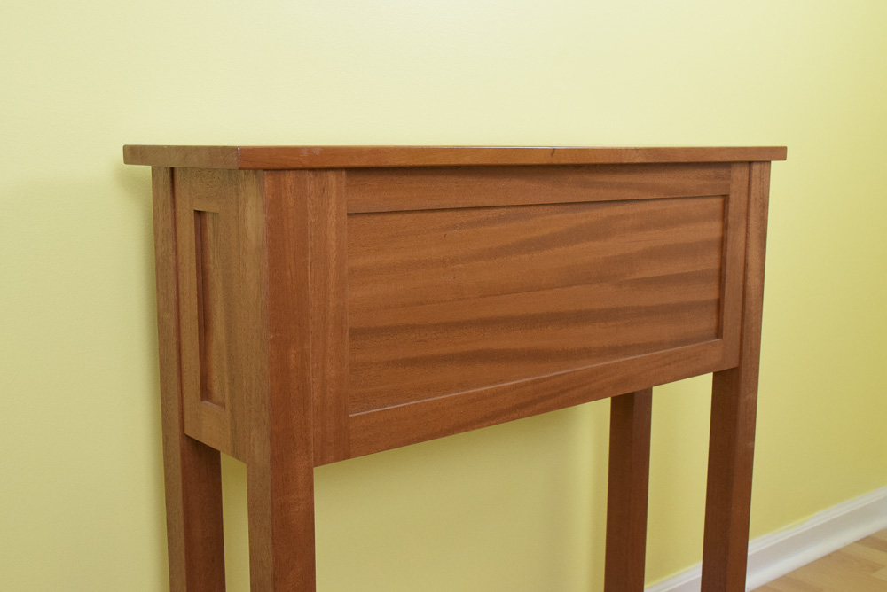 designable mahogany icebox backside view