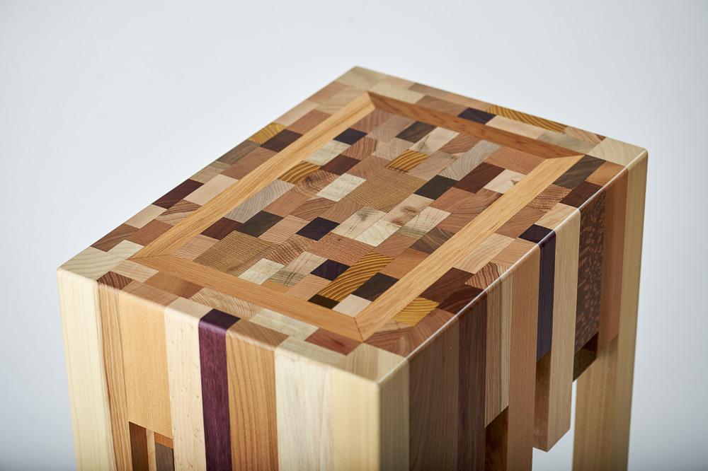 scrap wood end grain end table