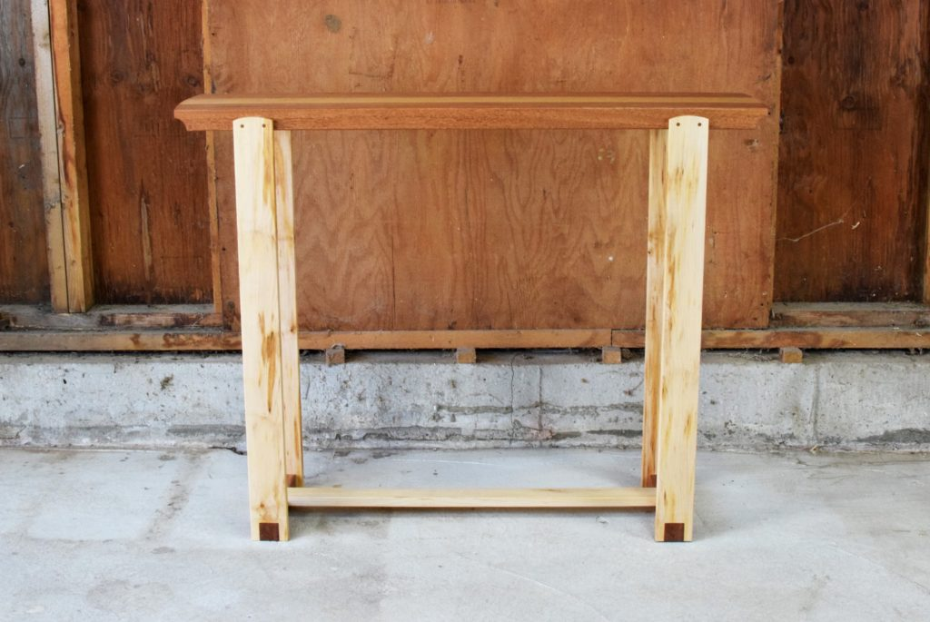 Mahogany and Maple Console Table