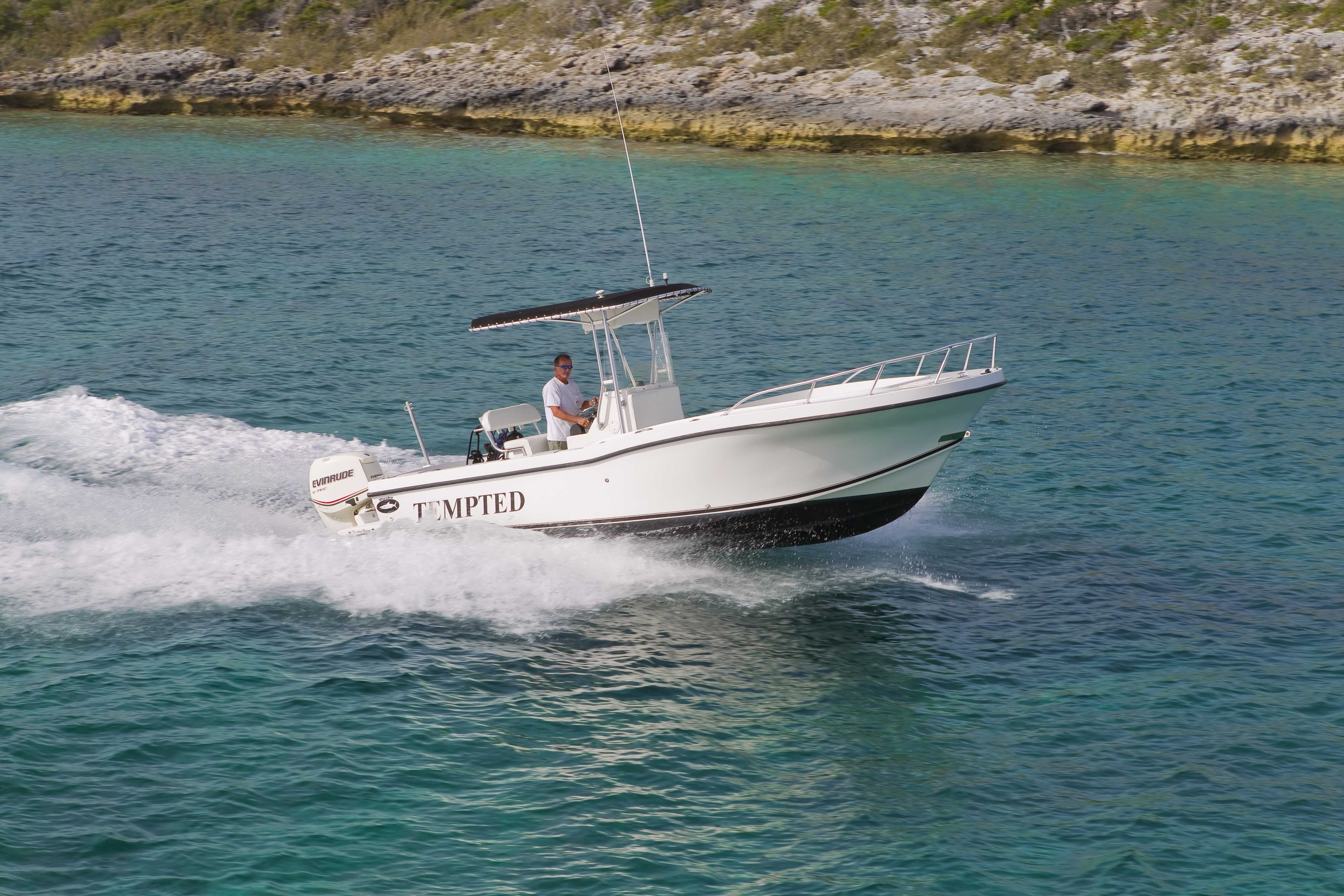 23' center console tender for fishing, diving, snorkeling, and site seeing.
