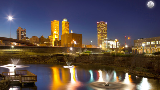 Tulsa Night Time Skyline