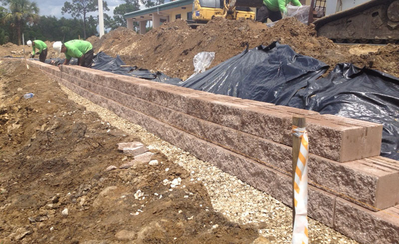 block wall at NFMRC Enviornmental Landscaping