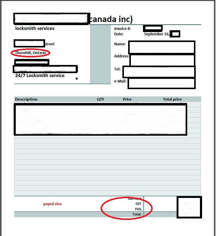 invoice semple
