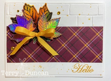 Handmade Fall Card by Terry Duncan at Classy Cut-ups Creations