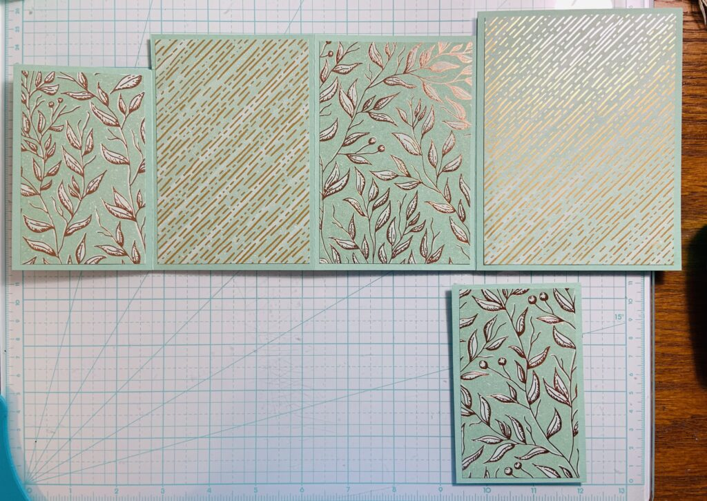 "Four Fold Card Tutorial for 8-1/2"" x 11"" piece of cardstock."