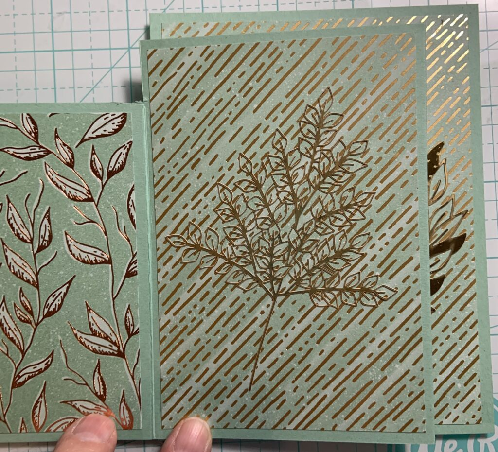 Handmade Anniversary Card with Gilded Autumn Designer Series Paper