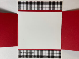 Fun Fold Christmas Card Made With the Plaid Tidings Designer Series Paper