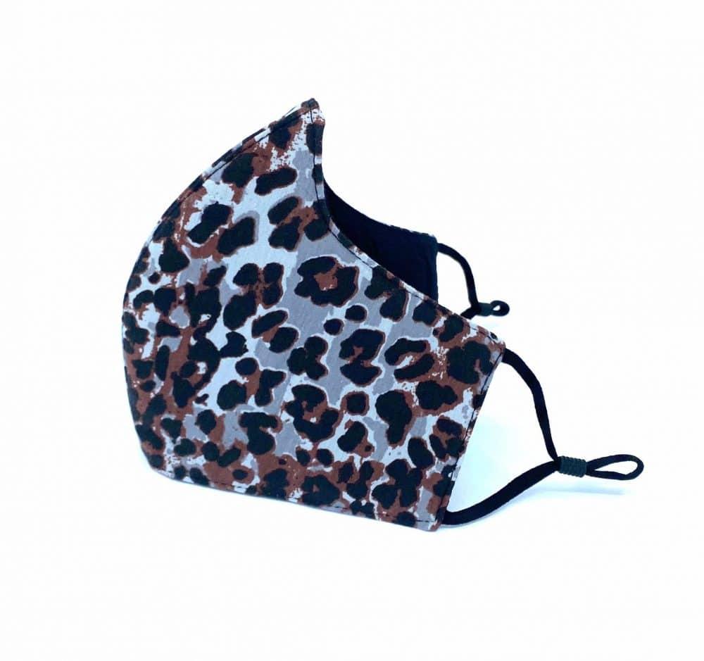 Brown Leopard Reusable Face mask