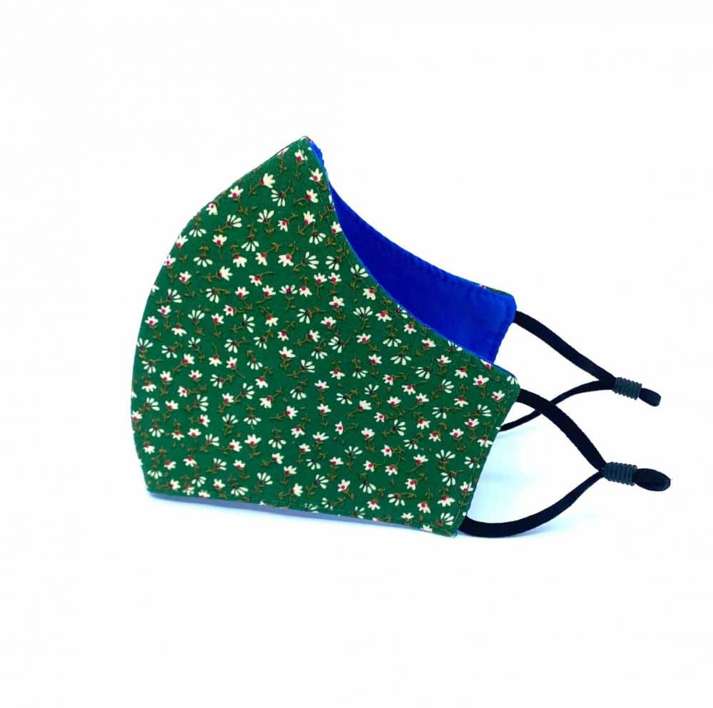 Green Floral Reusable Face Mask