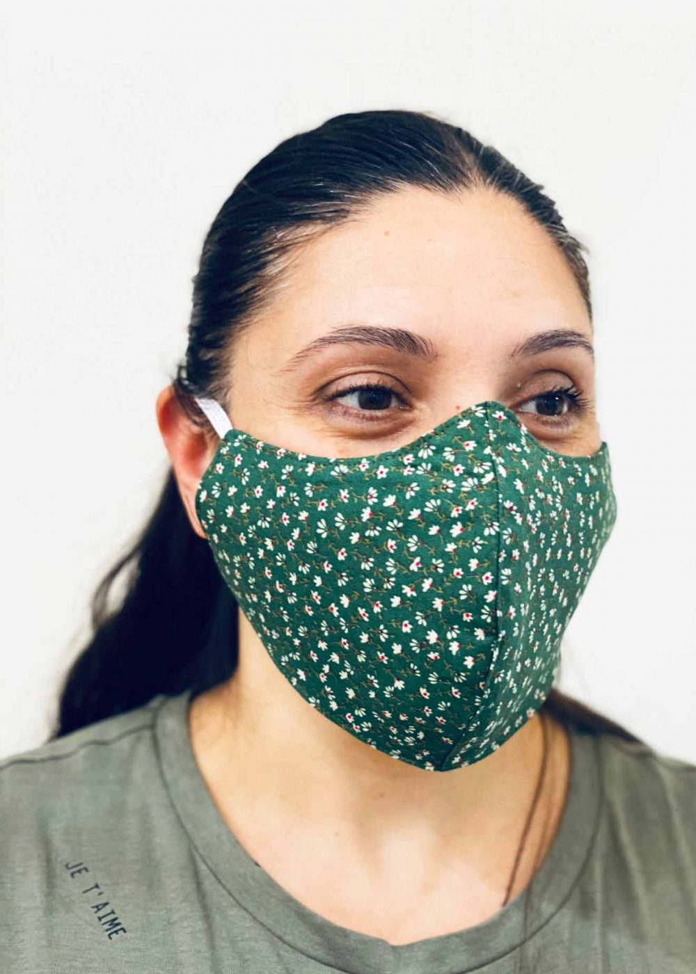Ladies DHHS Floral Pattern Face Mask by Laundry Box Melbourne