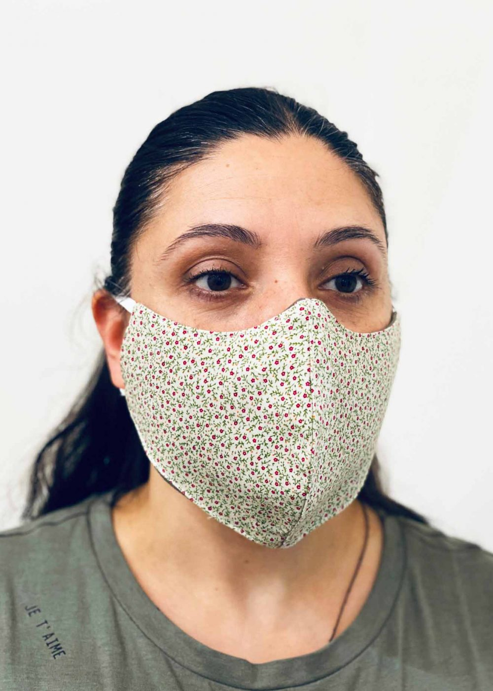 Ladies DHHS Floral Face Mask by Laundry Box Melbourne